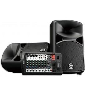 Sistema PA Yamaha SET STAGEPAS 600BT Completo 2 Colunas Mesa Amp