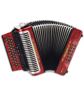 Photo of the Concertina Hohner Corona II Xtreme in red color