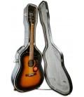 Foto da guitarra Fender CD-140SCE Sunburst dentro do estojo