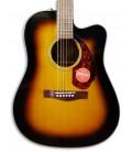 Foto do tampo da guitarra Fender CD-140SCE Sunburst