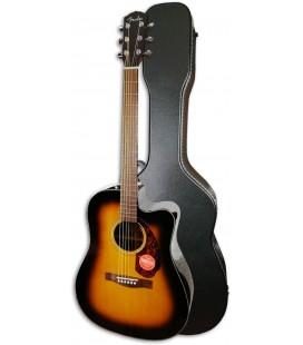 Electroacoustic Guitar Fender CD 140SCE Dreadnought Sunburst with Case