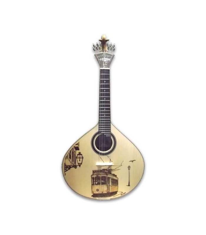 Guitarra Portuguesa APC GF PY LS Pirogravura Lisboa con Estuche