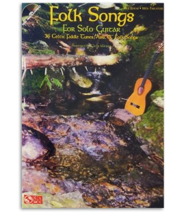 Photo of a sample of the Folk Songs for Solo Guitar book