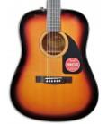Foto de la tapa de la Guitarra Acústica Fender Dreadnought CD 60 V3 DS Sunburst Walnut