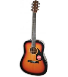 Guitarra Acústica Fender Dreadnought CD 60 V3 DS Sunburst Walnut