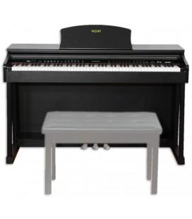 Piano Digital Yazuky YM-A18 88 Teclas Preto 3 Pedais