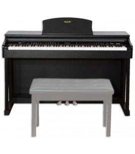 Piano Digital Yazuky YM-A18 88 Teclas Preto 3 Pedales