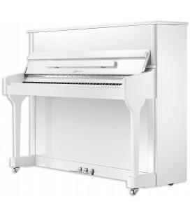 Piano Vertical Ritmuller AEU118S WH Classic 118cm Blanco Pulido 3 Pedales