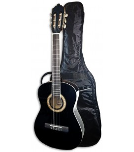 Photo of the Classical Guitar Ashton model SPCG-34BK with the bag
