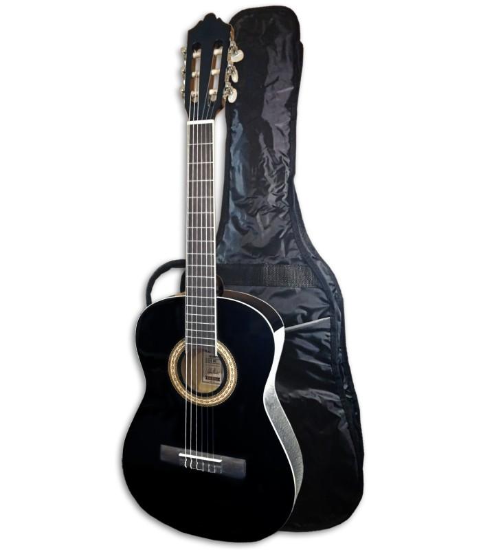 Foto de la Guitarra Clásica Ashton modelo SPCG-34BK con la funda