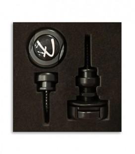 Foto del Strap lock Fender Infinity de color Negro dentro de la embalaje