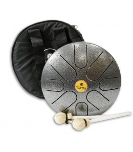 Photo of the Metta Drum LP model Dharma 8 LPD0608 with mallets and bag