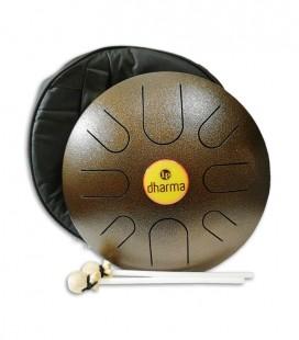 Foto do Metta Drum LP modelo Dharma 12 LPD0612 com batentes e sacos