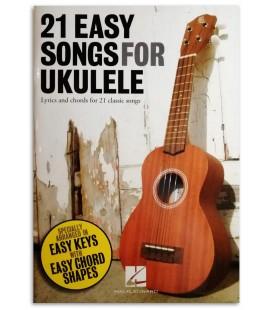Foto de uma amostra do Livro 21 Easy Songs for Ukulele
