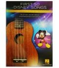 Foto de la portada del libro First 50 Disney Songs You Should Play on Ukulele