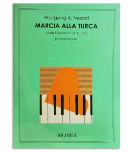 Foto da capa do livro Mozart Marcha Turca Sonata Lá M KV331