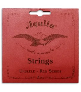 Foto da capa da embalagem da Corda Individual Aquila modelo 71-U Red Series Sol Grave