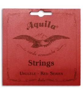Foto de la portada de la embalaje de la Cuerda Individual Aquila modelo 71-U Red Series Sol Grave