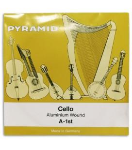 Foto da capa da embalagem da Corda Individual Pyramid modelo 170101 L叩 para Violoncelo 4/4