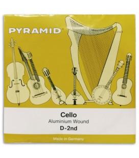 Foto da capa da embalagem da Corda Individual Pyramid modelo 170102 R辿 para Violoncelo 4/4