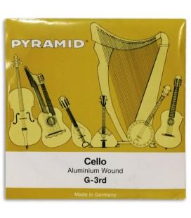 Foto da capa da embalagem da Corda Individual Pyramid modelo 170103 Sol para Violoncelo 4/4