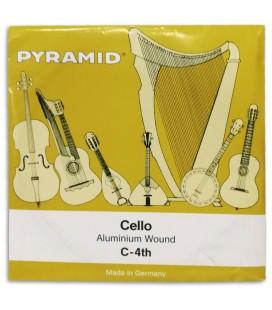 Foto da capa da embalagem da Corda Individual Pyramid modelo 170104 D坦 para Violoncelo 4/4