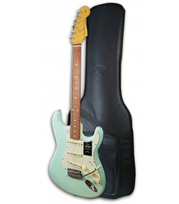 Photo of the Eletric Guitar Fender model Vintera 60S Strato IL SFG with Gig bag