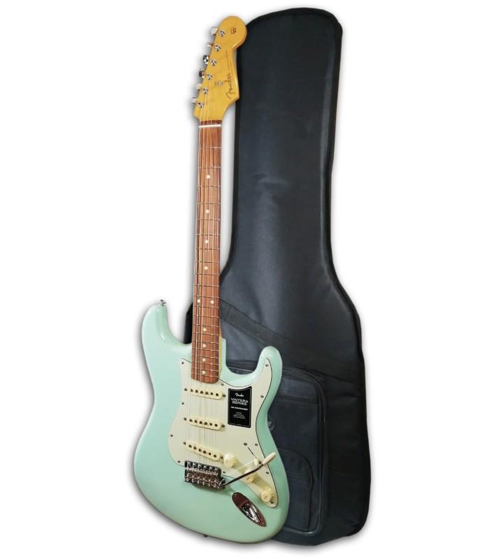 Foto da Guitarra Elétrica Fender modelo Vintera 60S Strato IL SFG com Saco