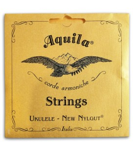 Foto da capa da embalagem da Corda Individual Aquila 16-U Bord達o Sol Grave para Ukulele Tenor
