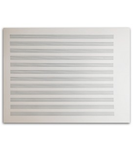 Foto del Cuaderno de Papel de Musica Artcarmo 12P Horizontal