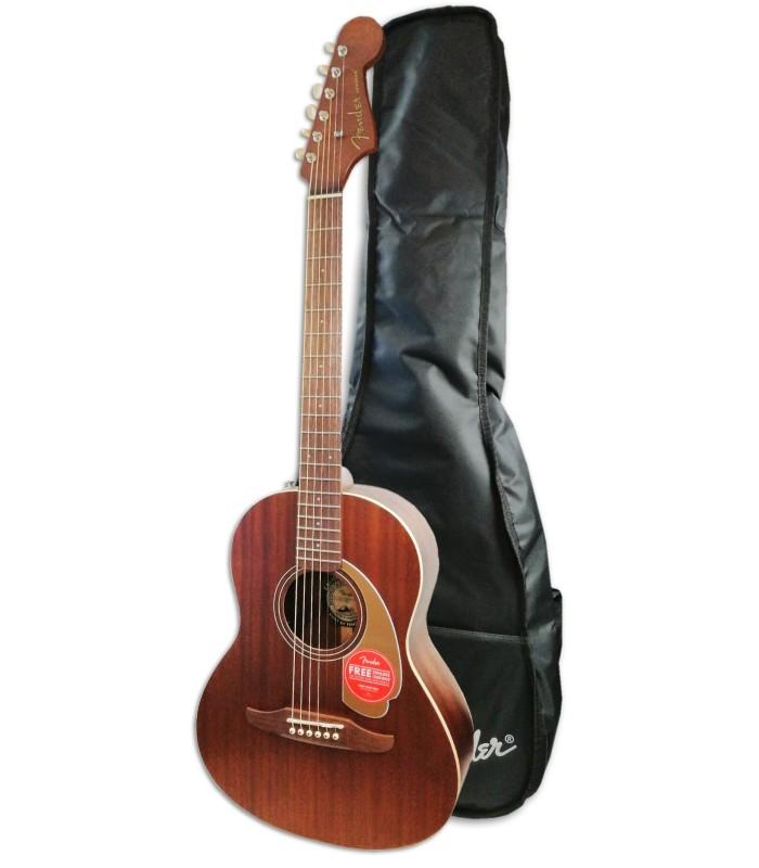 Foto de la Guitarra Acústica Fender modelo Sonoran Mini All Mahogany con Funda