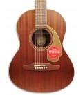 Foto do tampo da Guitarra Acústica Fender modelo Sonoran Mini All Mahogany