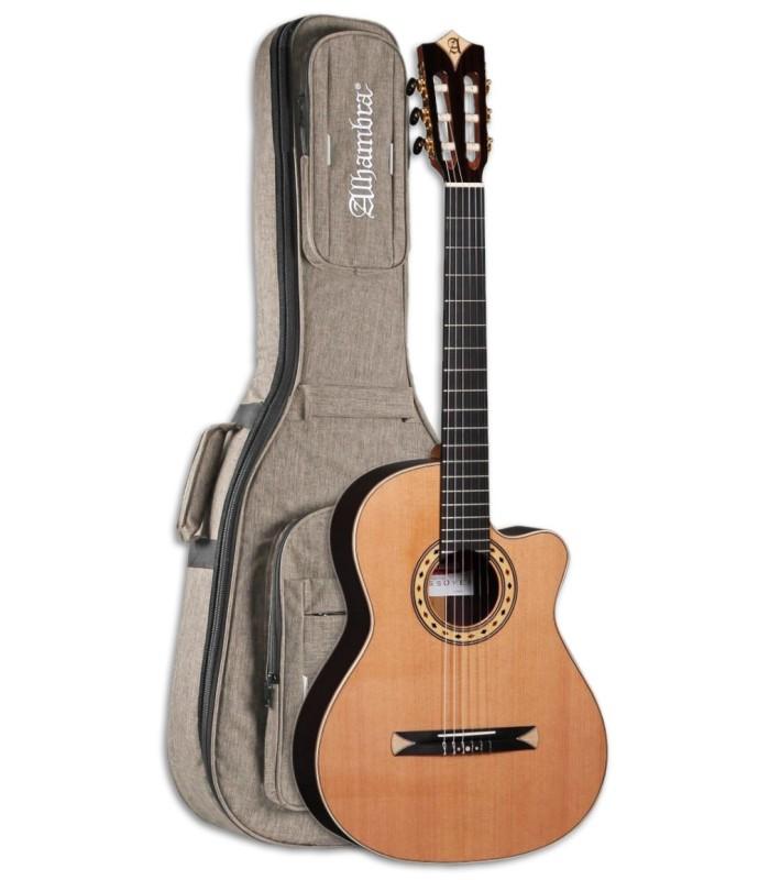 Foto da Guitarra Ac炭stica Alhambra modelo CS 3 CW E8 Equalizador Crossover com Saco