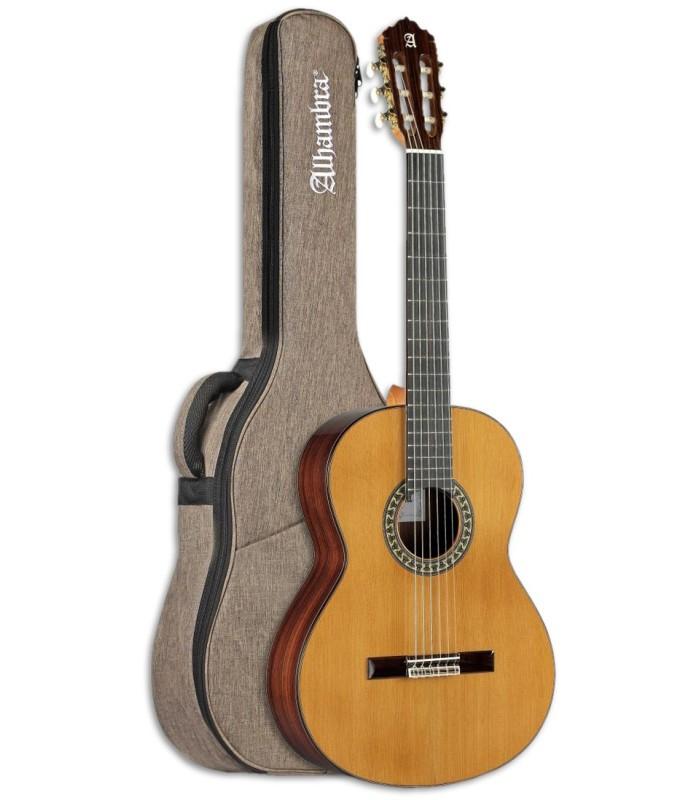 Foto de la Guitarra Clásica Alhambra modelo 5P tamaño 7/8 con Funda