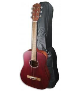 Folk Guitar Fender FA-15 3/4 Red with Bag