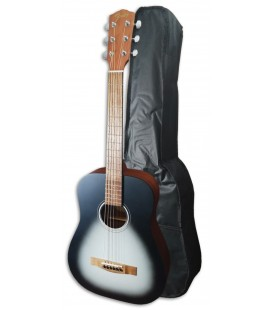 Photo of the Folk Guitar Fender model FA-15 of 3/4 size, in Moonlight color and with a Bag