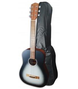 Foto de la Guitarra Folk Fender modelo FA-15 tamaño 3/4, en color Moonlight y con Funda