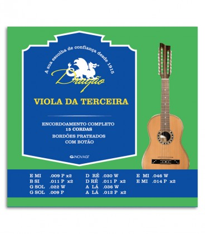 Foto da capa do Jogo de Cordas Dragão modelo 069 para Viola da Terceira de 15 Cordas