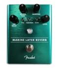 Foto dos controlos do Pedal Fender modelo Marine Layer Reverb