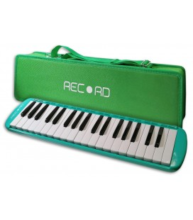 Photo of the Melodica Record model M-37GR in Green color with case