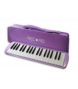 Photo of the Melodica Record model M-37PU in Lilac color with case