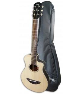 Foto da guitarra Yamaha APX-T2 natural e com saco