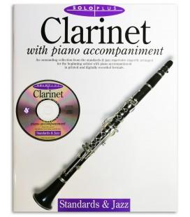 Foto de la portada del libro Solo Plus Standards & Jazz Clarinet Libro/CD
