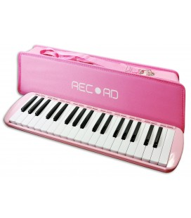 Photo of the Melodica Record model M-37PK in Pink color with case