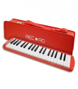 Photo of the Melodica Record model M-37RD in Red color with case