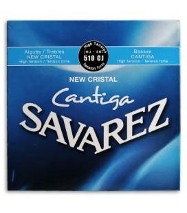 Foto da capa da embalagem do Jogo de Cordas Savarez modelo 510 CJ New Crystal Cantiga