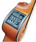 Foto do preamp da Guitarra eletroac炭stica Takamine modelo GY11ME-NS CW New Yorker