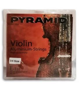 Foto da capa da embalagem do Jogo de Cordas Pyramid 100100 para Violino Alum鱈nio 3/4