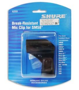 Foto da Pin巽a Shure modelo A25D para Microfone dentro da embalagem