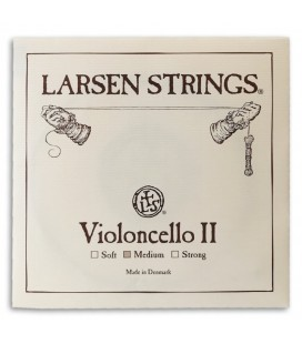 Foto da capa da embalagem da Corda Individual Larsen 2捉 R辿 Violoncelo 4/4 M辿dia